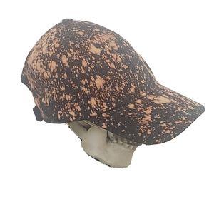 Bleached hat black trendy handmade tie dye cap new